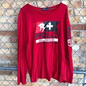 Polo Ralph Lauren Ski Racing Red Long Sleeve XXL